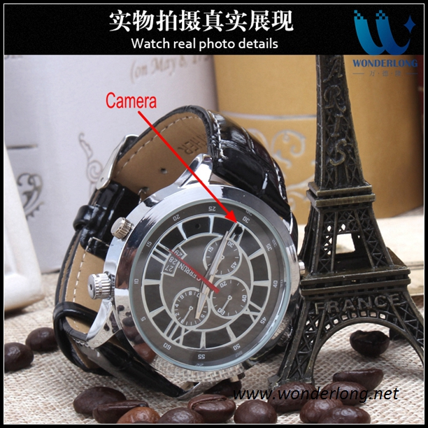 16GB Grandness spy hidden voice video recorder camera watch 1080p hd camera watch driver