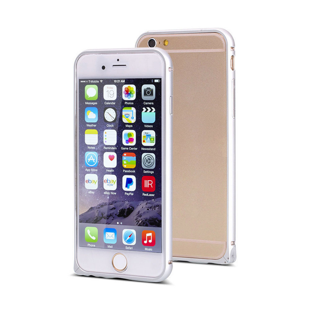 For Apple Iphone 6 Bumper Case,Luxury Metal Aluminum Bumper Border ...