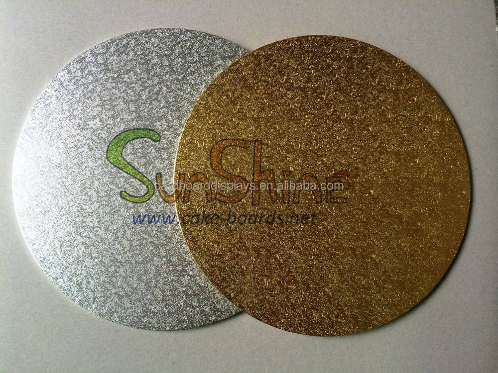 Gold  Silver Thin Cake Boards For Wedding Decoration