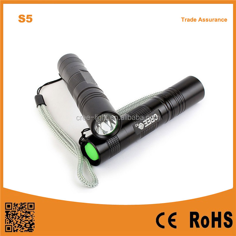 S5 R2 LED bulb 18650 battery supported outdoor portable condenser long shots mini torch