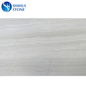 Cheap Price White Wood Vein Marble Slab For Sale