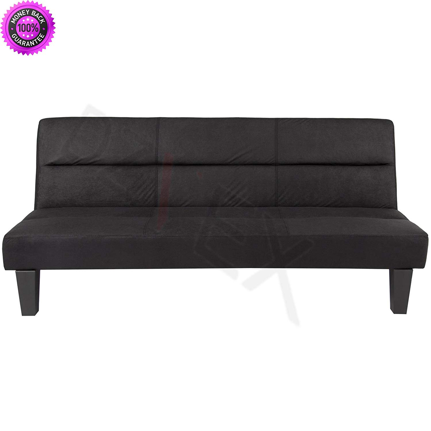 Get Quotations Dzvex Microfiber Futon Folding Couch Sofa Black And Full Size Fraame Mattress