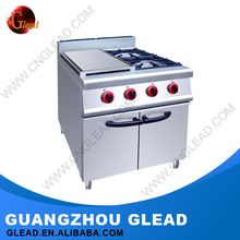 Professional Stainless steel industrial cooking gas range