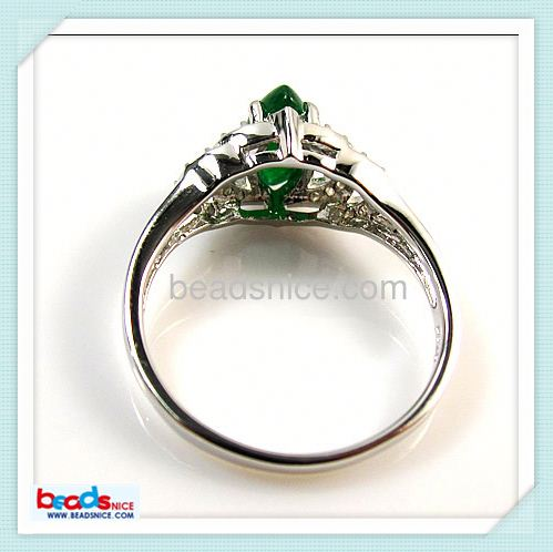 Beadsnice ID 26387 925 Sterling silver rings with malaysian jade of fine jewelry, jewellery
