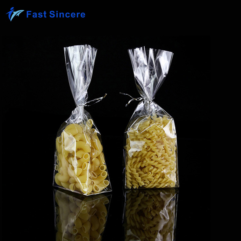 Custom Printed Clear Plastic Food Grade Cellophane Gift Bags