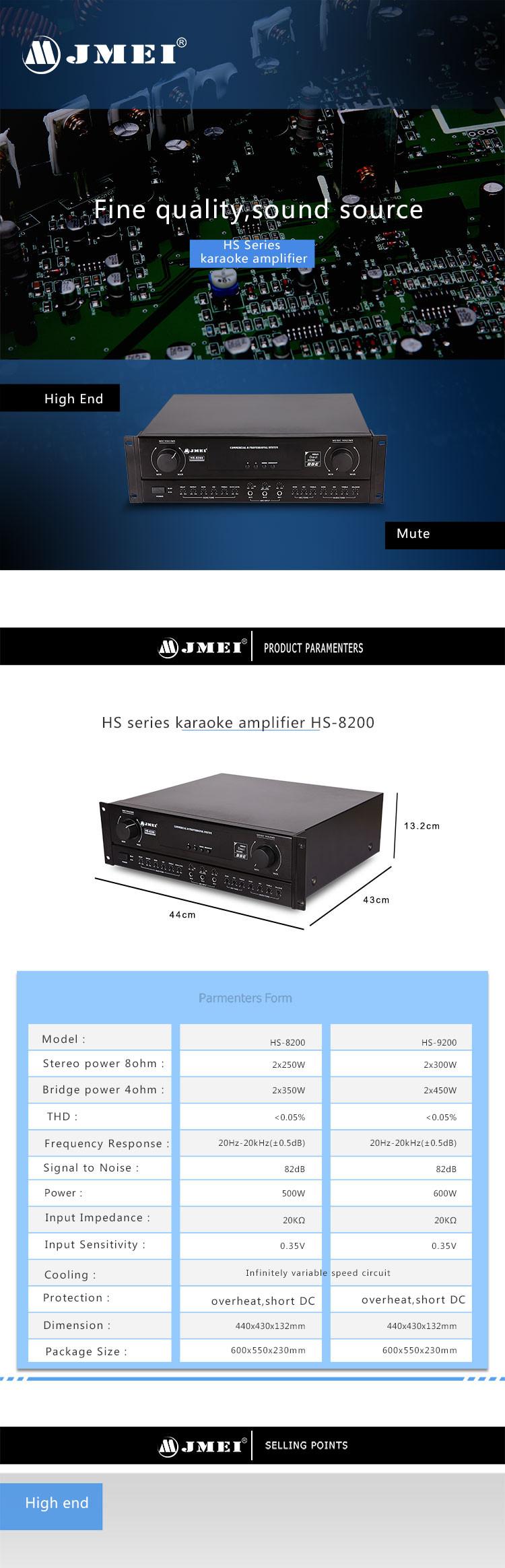 Hs Series 200w X 2 8ohm Class D Board Universal Karaoke Amplifier ...