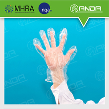 AD005 jiangsu supplier hdpe plastic disposable transparent gloves