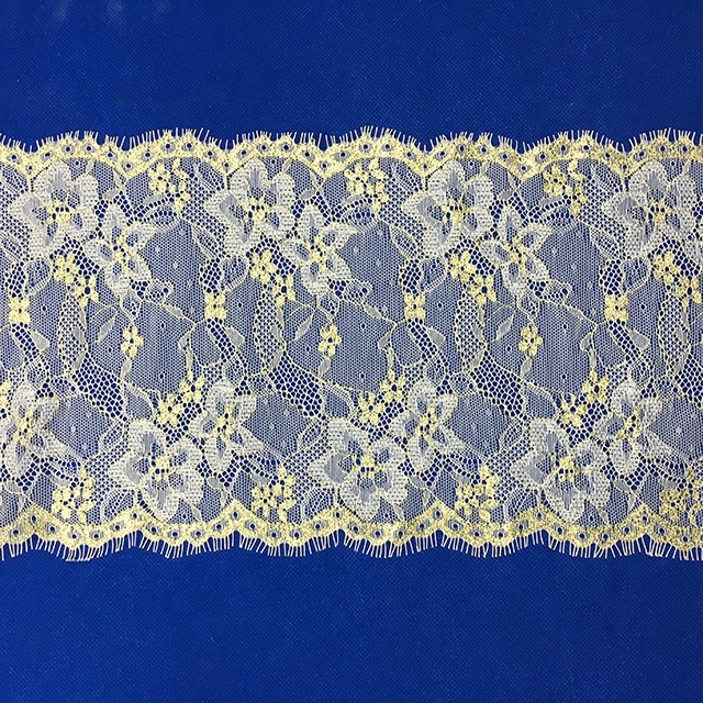 trade assurance white raschel lace fabric eyelash lace trim