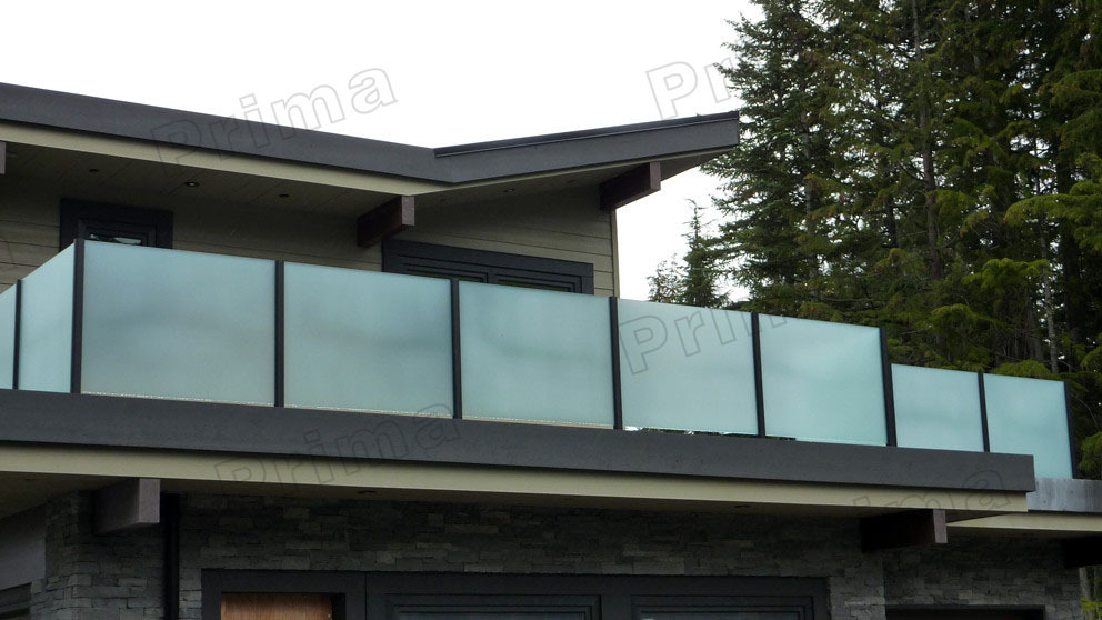 Frosted Glass Railings System For Sale Used In Outdoor
