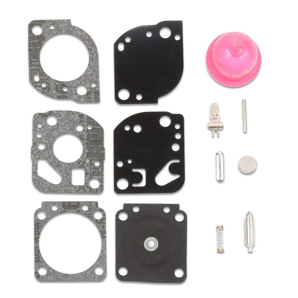 Kaymon Carburetor Repair Kits RB-117 for ZAMA C1U-W19 Poulan Craftman 530071811 PP025 PP25E PP26E PP125 PP325 P4500 P4500F SM705 SM706 Gas Trimmer with Primer Bulb