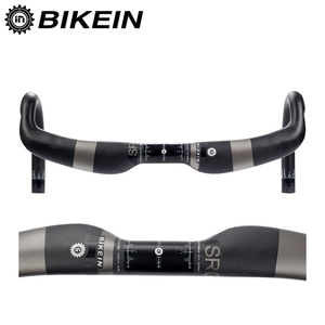 BIKEIN UltraLight Full UD Carbon Road Bicycles Handlebar 400/420/440mm Drop Bar Cycling Bike Aero Bent Bar Bicycle Parts 240g