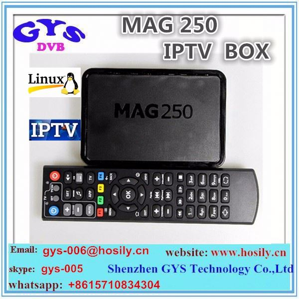 High quality iptv channels Hot iptv set top box android tv box mag 250 mag250