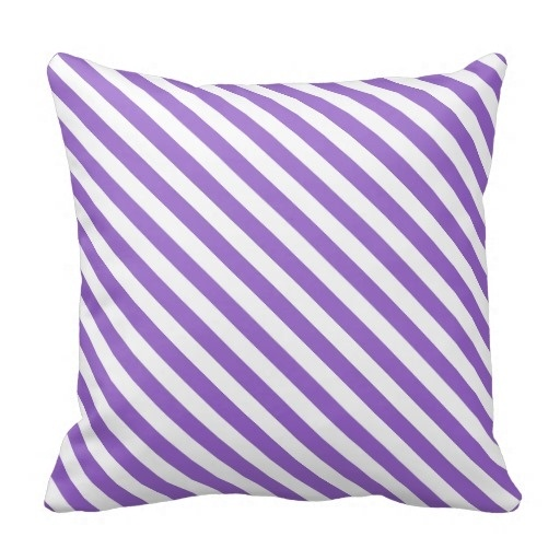 Throw Pillow Cover Set Amethyst Classy Striped Diagonal Throw Pillow Case (Size: 45x45cm) Free Shipping