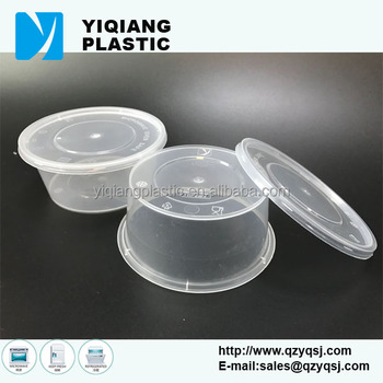 Yq381 12oz Microwave Safe Disposable Plastic Round Food Container With Lid