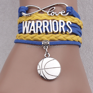 Hot Accessories alloy Basketball Pendant Bracelet For Women Jewelry