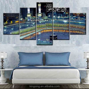 Pop Creative Cityscape Abstract Oil Painting on Canvas 5 panel new style modern unframed canvas painting for decor and gift