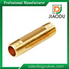 High quality and low price zhejiang manufacture forged original brass color male threaded npt brass long nipple