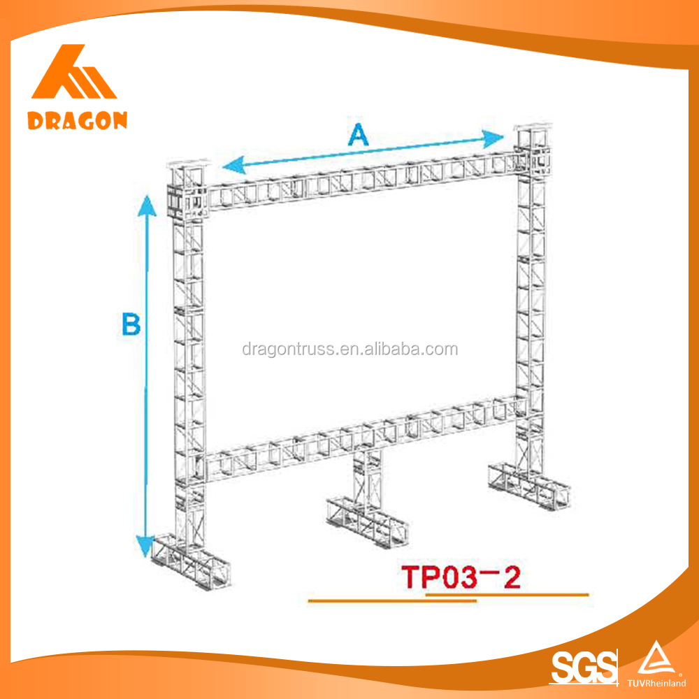 high quality easy to install truss for led screen,projector or speaker