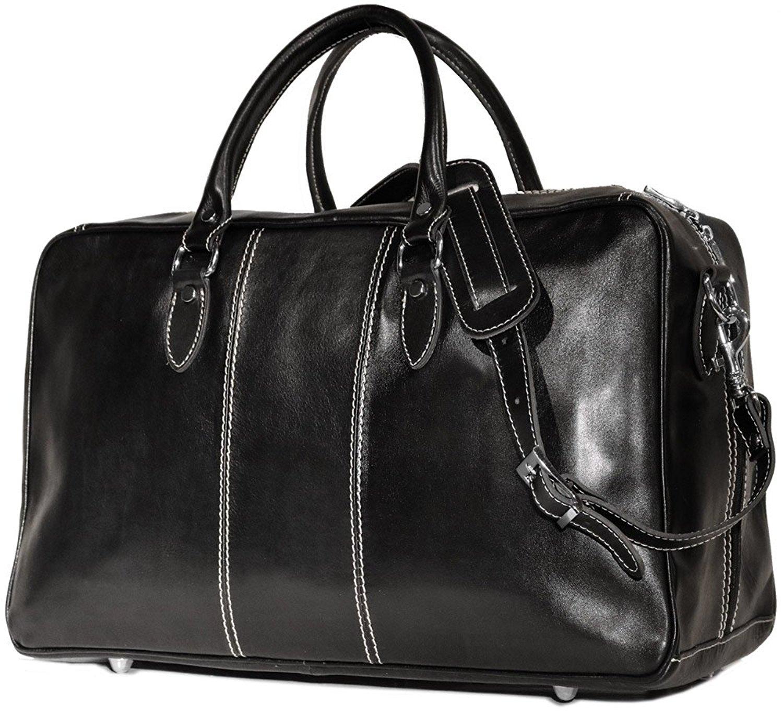 Floto Venezia Leather Trunk Duffel Bag
