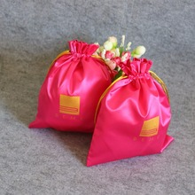 Customized Eco-friendly Hair Extension Packaging Bag With Logo For Wig