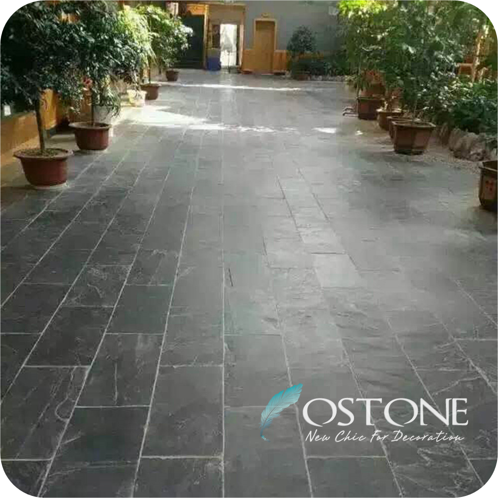 Landscaping Patio Paver Flagstone Super Black Slate Tiles Outdoor