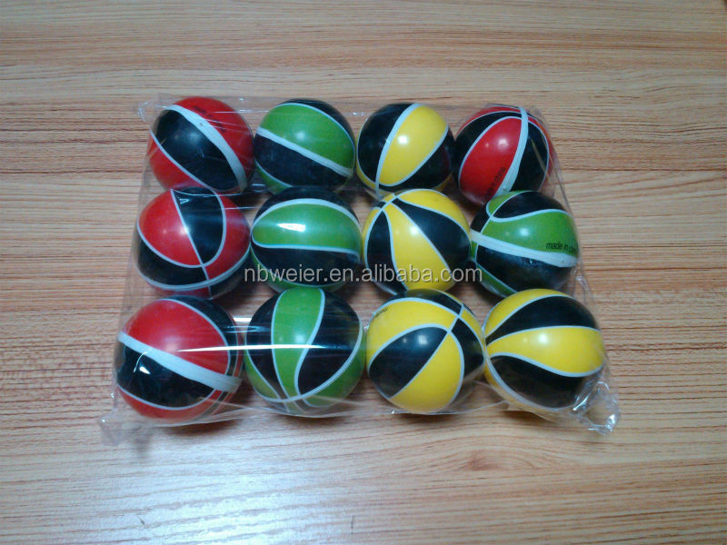 hot selling 6.3cmfull printing stress basketball/360 degree printed stress basket ball/customed print cheap PU toy stress ball
