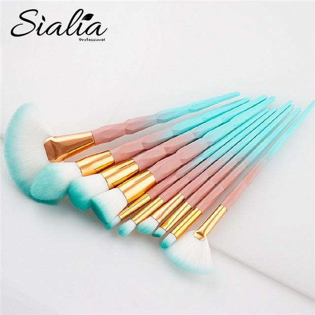 Bamboo Design Gradient 10 Pieces Makeup Brush Set