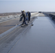 be used in large building roofs waterproof spray polyurea elastic coating