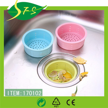 Silicone Kitchen Bath Sink Strainer Filter Net Drain Hair Catcher Stopper
