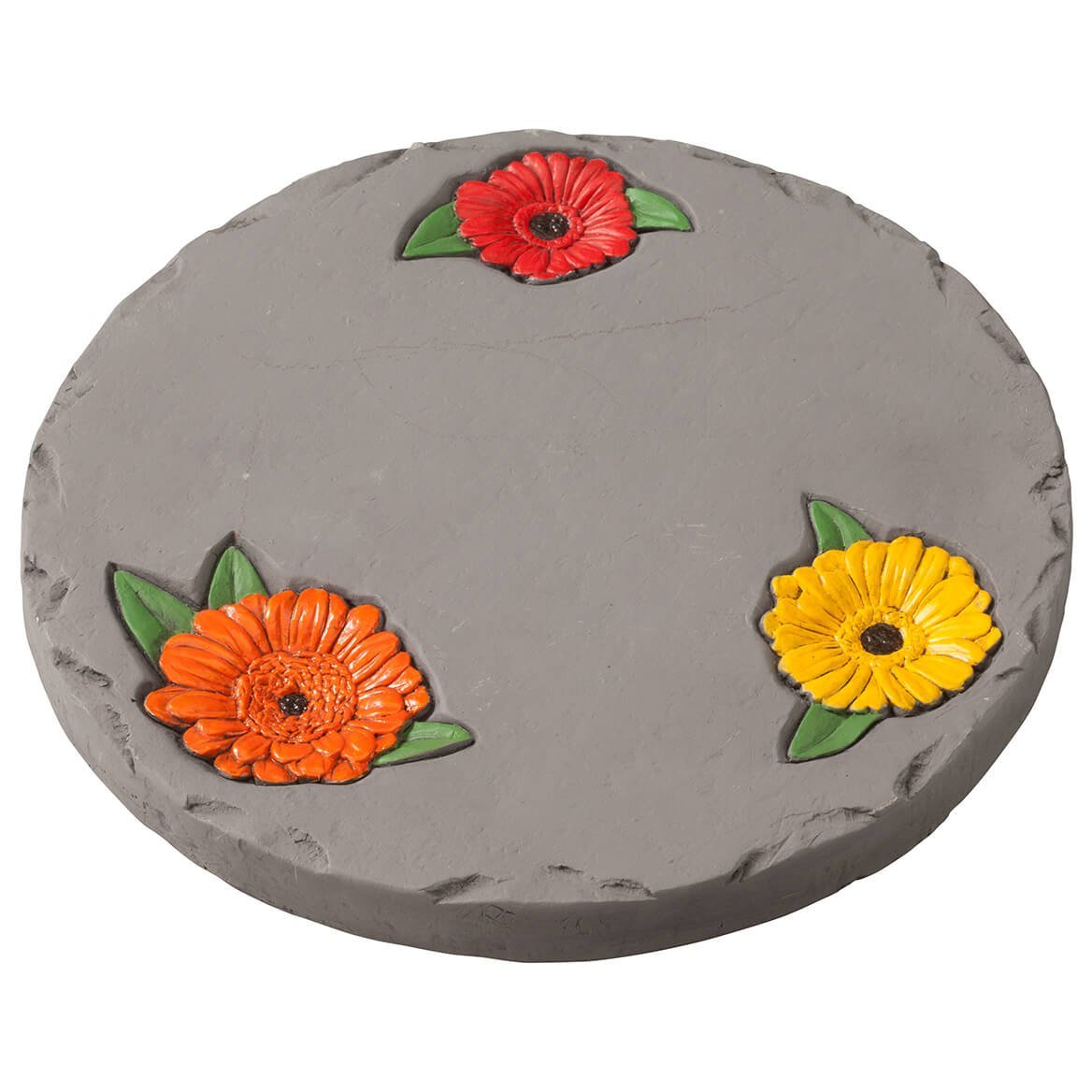 "Fox Valley Traders 7"" Daisy Garden Stepping Stone – Decorative, Colorful, Durable, Stepping Stone Ideal for Yard, Walkway or Garden – Weather-Resistant Cement"