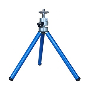 3 sections blue aluminum tripod stand stainless steel mobile phone holders mobile phone holder