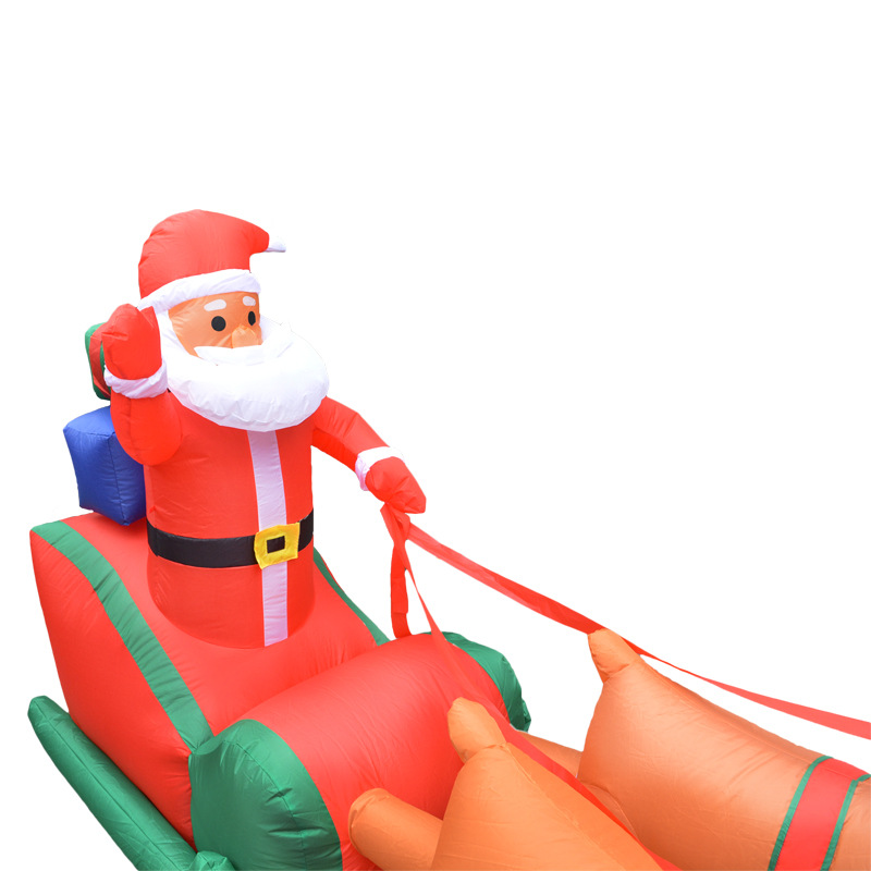 210cm-Giant-Inflatable-Santa-Claus-Double-Deer-Sled-Blow-Up-Fun-Toys-For-Child-Christmas-Gifts (1)