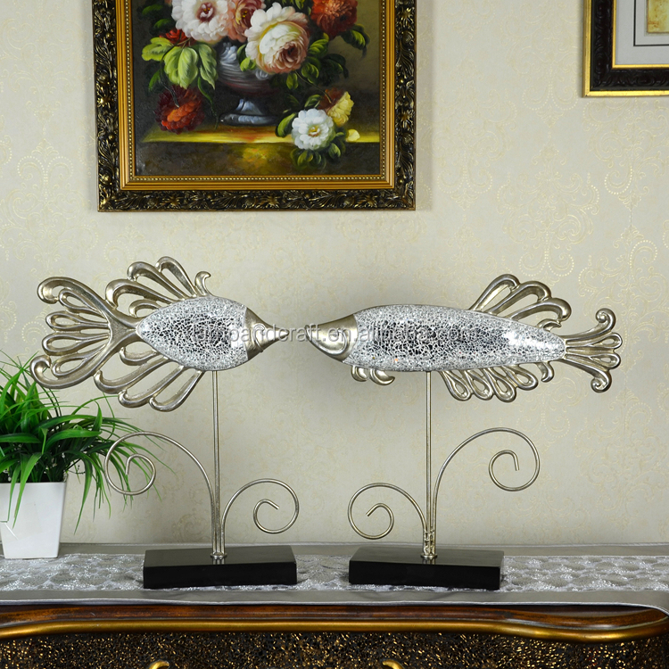 Modern Resin Horse Home Interior Decorator Items For Tabletop Decor With  Silver