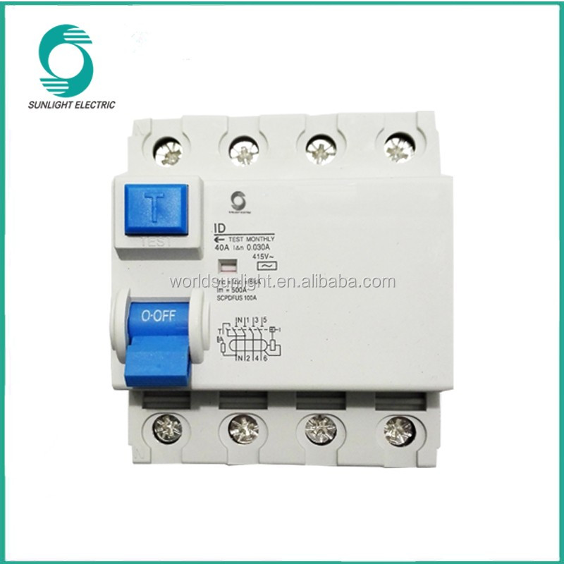 Xid A Ac Type Electronic And Electromagnetic 415v 30ma 40a 4p Rccb ...