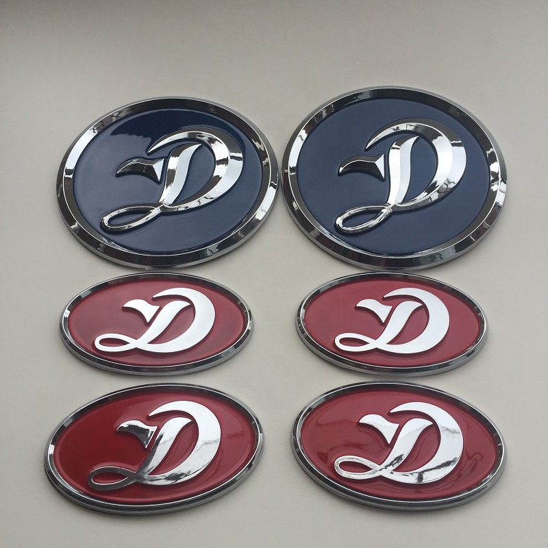 Custom high quality ABS car emblem and metal car badges and auto grills and car stickers