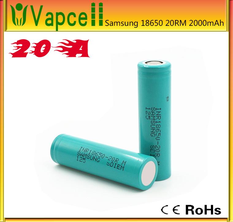 samsung lithium batterij 18650 2000 mah 3 7 v oplaadbare. Black Bedroom Furniture Sets. Home Design Ideas