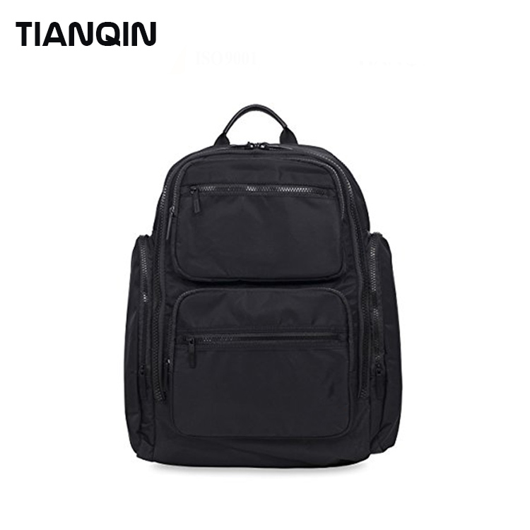 New Design Fashion Black Twill Polyester Backpack Bag for Outdoor