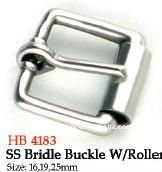 Saddlery Buckles SS Bridle Buckle W/Roller