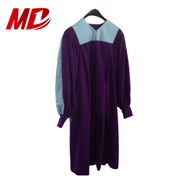 Matte embroidery ladies choir robe/ gown