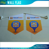 durable wall flag mounted hard PP flag pole