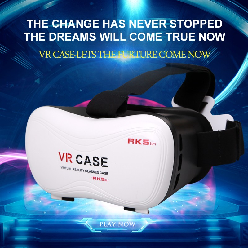 Attractive Helmet Style 5th Generation VR 3D Glasses for 3D Movies and Games