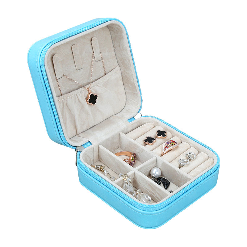 Sell Well leatherette suede vintage white jewelry box OEM