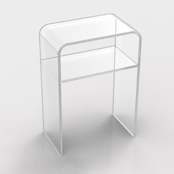 Modern Custom Clear Acrylic Console Table End Coffe Table With Shelf Part 52