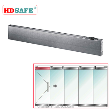 stainless steel glass door patch fitting top rail with pivot point