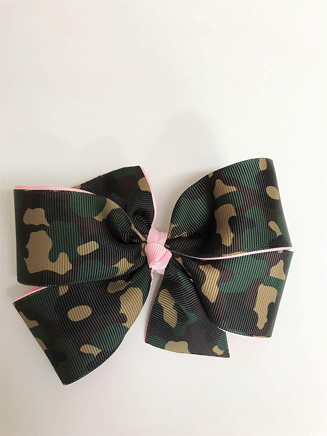 Get Quotations · Girls Military Camouflage Hair Clip Pink Camo Hair Bow  Teen Army Camo Barrette d877f1e111d6