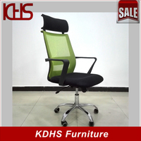 orange office chair cover mesh mid back staff chair with wheels
