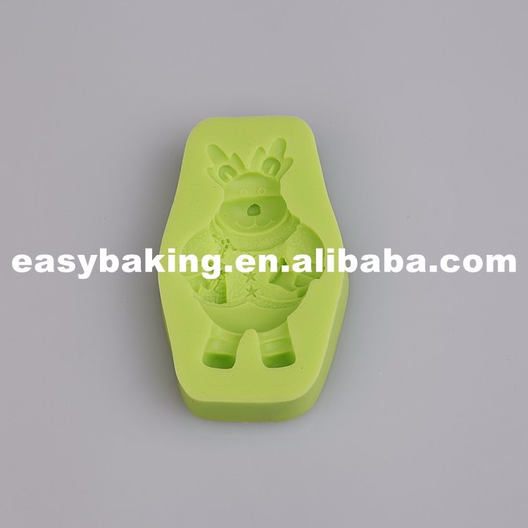 Christmas Snowman Silicone Fondant Molds for cake decorating