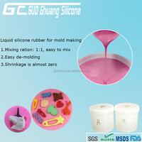 RoHs and FDA food grade liquid silicone rubber for food mold rtv silicone rubber for mold