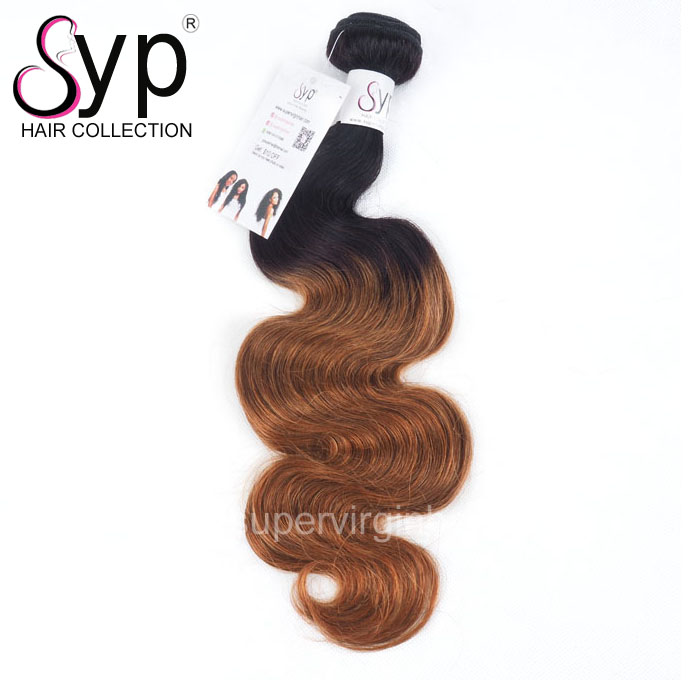 Wholesale Ombre Dark Roots Human Virgin Brazilian Body Wave Hair Bundles Weave Color 1B 30  26 28 30 Inch
