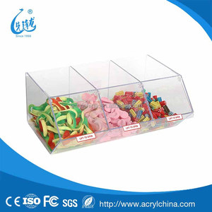 clear acrylic Pick & Mix Dispenser for Unwrapped Sweets,plexiglass candy storage box